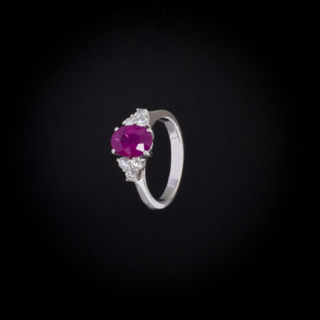 anello rubini brillanti