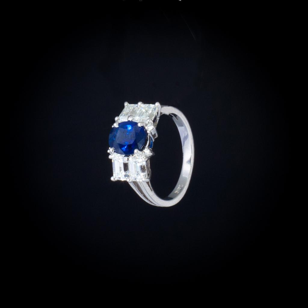 anello zaffiro brillanti